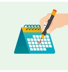 Deadline time management concept vector image vector image