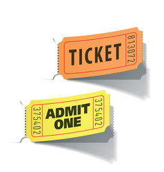 Entrance tickets vector