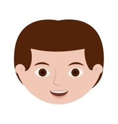 front face redhead male hairstyle vector image vector image