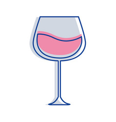 Glass with wine icon image vector
