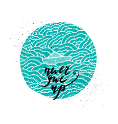 Hand drawn inspiration quote vector