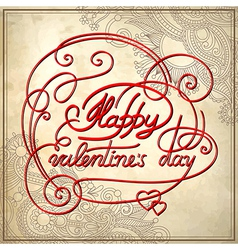 happy valentines day on grungy paper vector image
