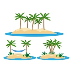 isolated island with palm trees vector image