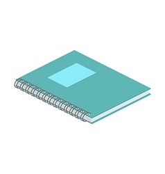Isometric notebook on white background For web vector image