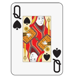 Jumbo index queen of spades vector