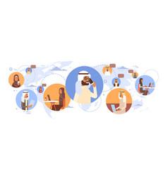 muslim people chat media communication social vector image