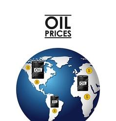 Oil prices design vector