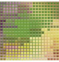 Pixel glass style mosaic vector