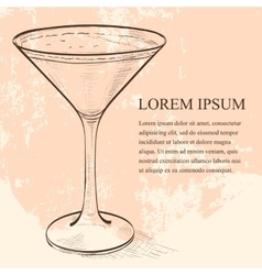 Porto flip cocktail scetch vector