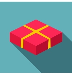 Red box icon flat style vector image