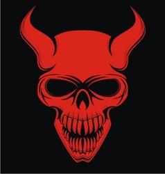 Red devil skulls vector