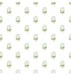 Teabag pattern cartoon style vector