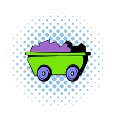 Trolley icon comics style vector