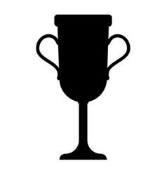 trophy cup the black color icon vector image vector image