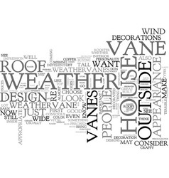 Weathervanity text word cloud concept vector