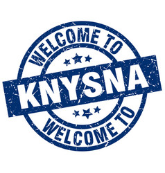 Welcome to knysna blue stamp vector