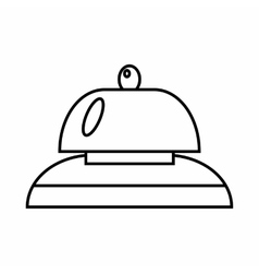Call at reception icon outline style vector