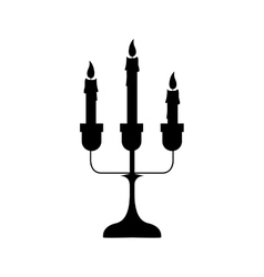 Chandelier with candles icon image vector