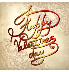 Happy valentines day on grungy paper background vector