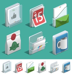 Basic printing icons vector