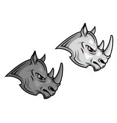 Cartoon rhino mascots vector image