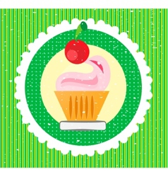 Sweet on striped background vector