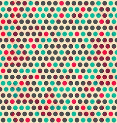 Vintage circle seamless pattern with grunge effect vector