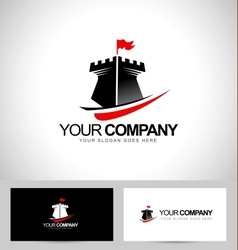 Castle tower logo design vector