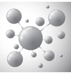 Molecule on a gray background vector image