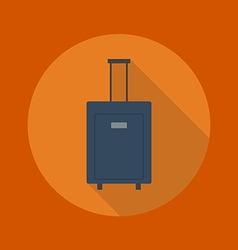 Travel flat icon luggage vector