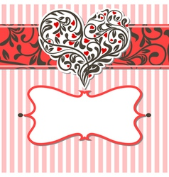 vintage card with abstract heart vector image