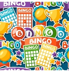 Bingo or lottery game seamless pattern with balls vector