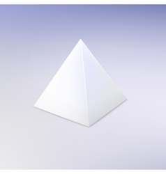 Blank white pyramid vector
