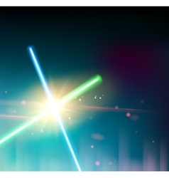 Two laser rays vector