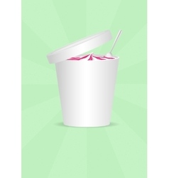 Ice cream plastic container vector