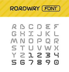 Roadway font drive way path style letters set vector