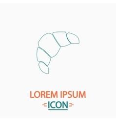 Croissant computer symbol vector