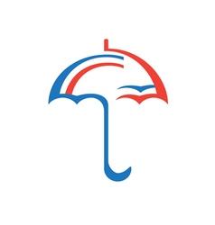 Original stylized umbrella vector