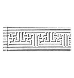 Abnormal fret band is a pattern vintage engraving vector