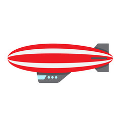 Airship blimp flat icon transport and air vector