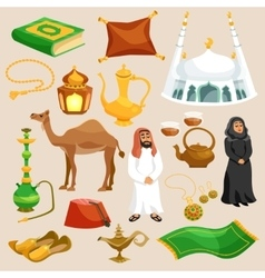 Arabic culture set vector