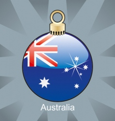 Australia flag on bulb vector