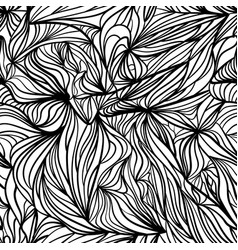 black and white curved seamless background vector image