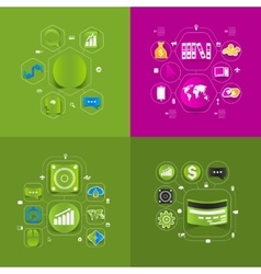 business sticker infographic vector image vector image