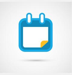 Calendar icon - blank vector