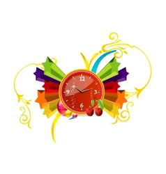 clock pop vector image vector image