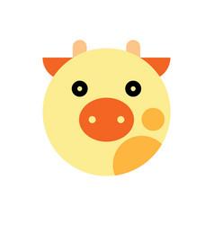 Cow cartoon animal head vector