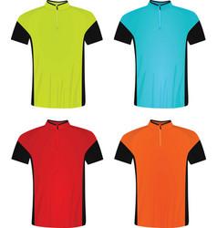 Cycling jerseys vector