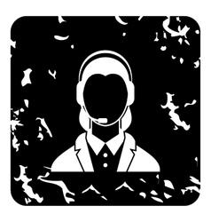 Dispatcher icon grunge style vector
