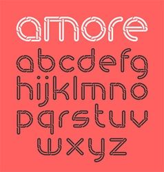 Font from chain vector image vector image